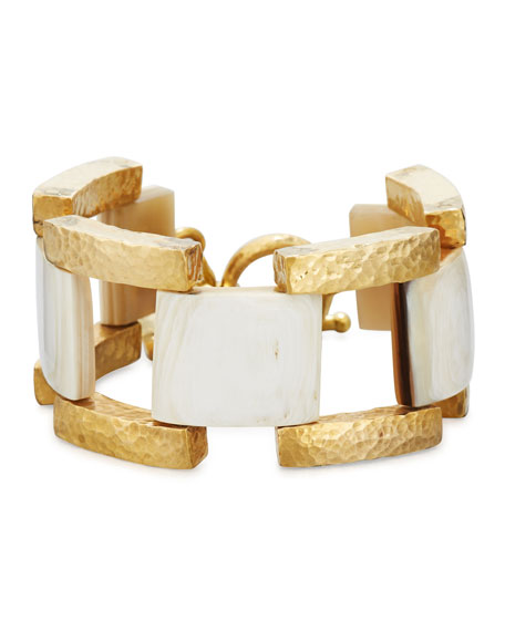 Ashley Pittman Muziki Chunky Link Bracelet, Multi