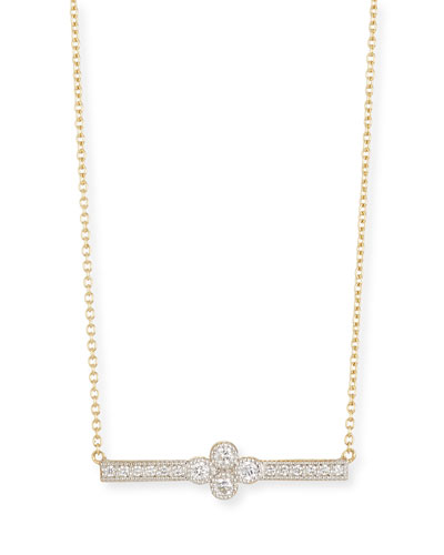 18k Gold Provence Diamond Bar Station Necklace