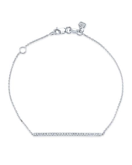Sydney Evan 14k White Gold Diamond Bar Bracelet