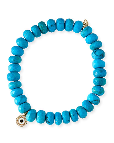 Sydney Evan 8mm Dark Turquoise Beaded Bracelet w/