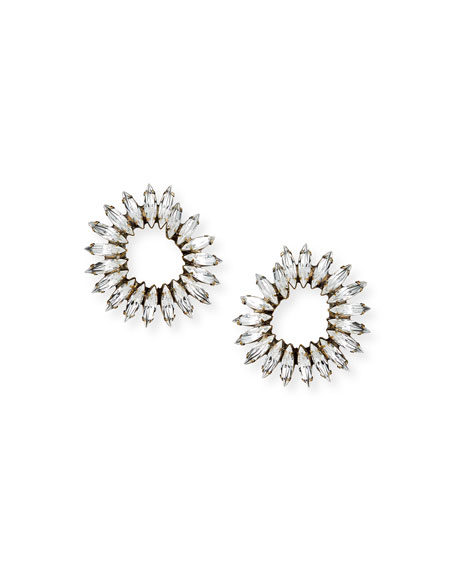 Vivian Clear Crystal Hoop Earrings