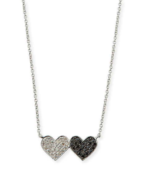 14k Double Heart Pendant Necklace