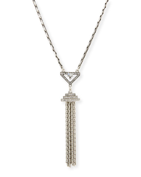 Lulu Frost Lucent Crystal Tassel Pendant Necklace