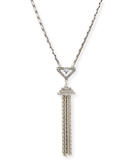 Lulu Frost Lucent Crystal Tassel Pendant Necklace
