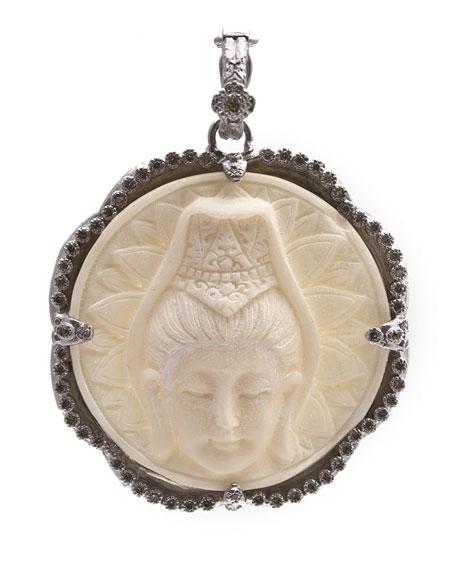 Armenta New World Scalloped Round Crowned Buddha Bone