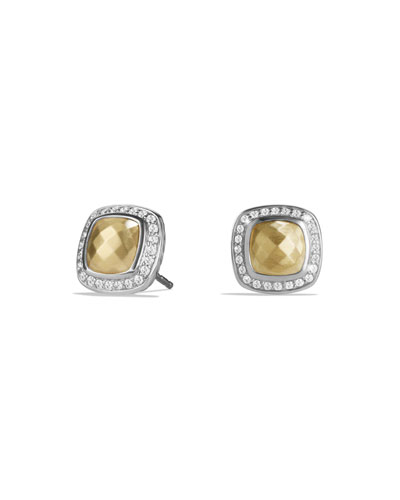 Albion Stud Earrings with Gold and Diamonds