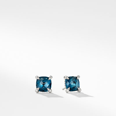 9mm Châtelaine Hampton Blue Topaz Stud Earrings