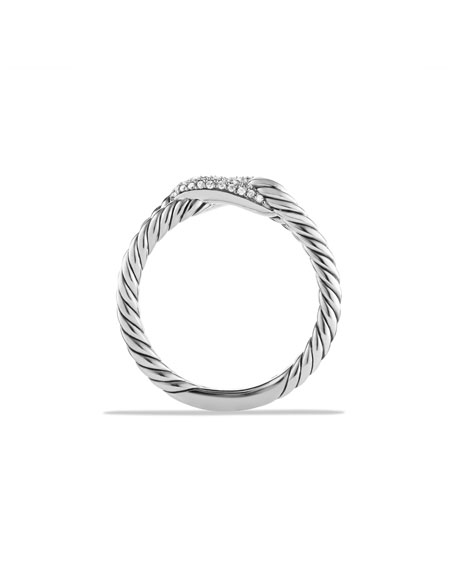 David Yurman Petite Pave Diamond Loop Ring