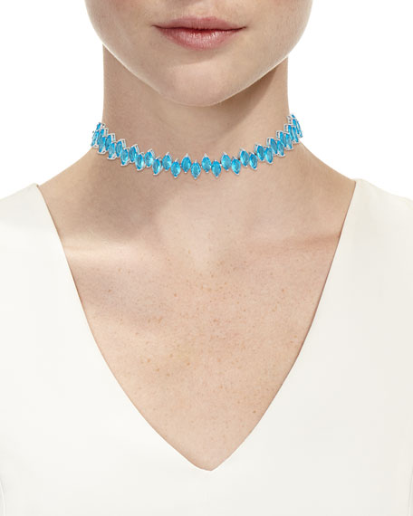 Monarch Crystal Jagged Edge Choker Necklace