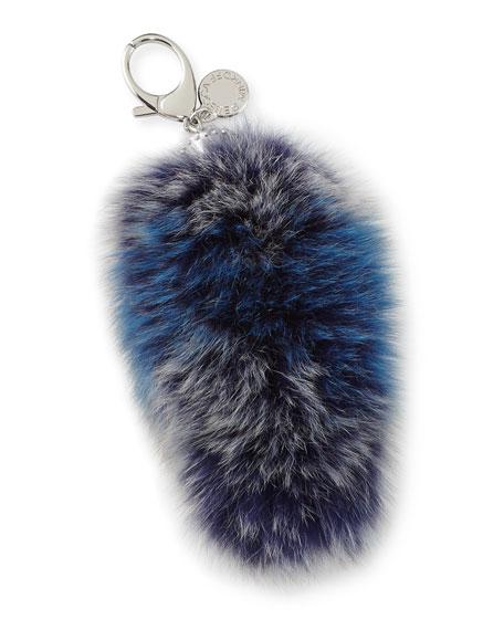 Fox-Fur Tail Charm for Handbag
