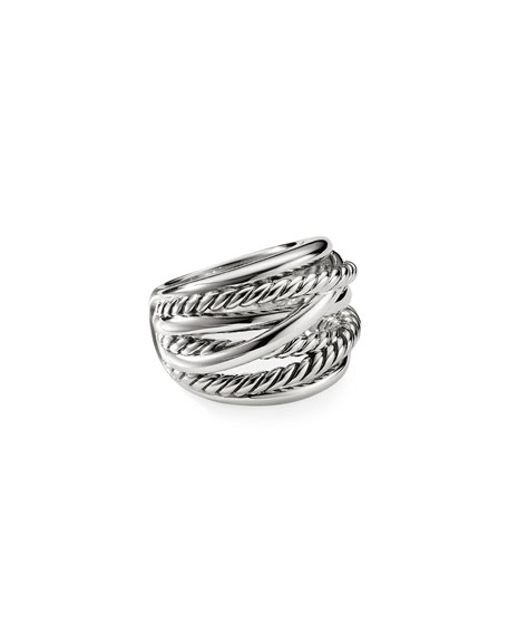 David Yurman CHUBBY CROSSOVER WIDE RING