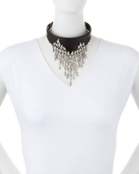 Cascading Fringe Hinged Collar Necklace