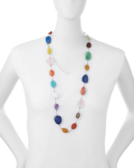 "Margo Morrison Carnival Large Multi-Stone Necklace, 35""L"