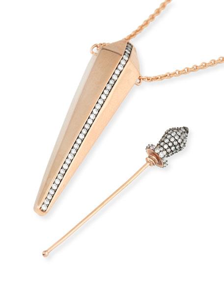 18K Rose Gold & Diamond Perfume Amulet Pendant Necklace