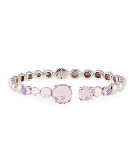 Molten Hinge Bangle with Lavender Quartz