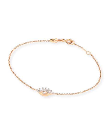 Kismet by Milka Protect Me 14K Rose Gold & Sapphire Evil Eye Bracelet