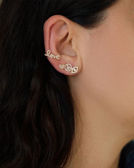 Pave Diamond Love Single Stud Earring
