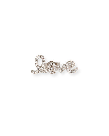 Sydney Evan Pave Diamond Love Single Stud Earring cIKbIF