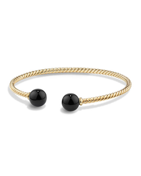 David Yurman Solari 18K Gold & Onyx Cuff Bracelet