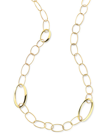 """Ippolita 18K Glamazon All Mixed Link Necklace, 34"""""""