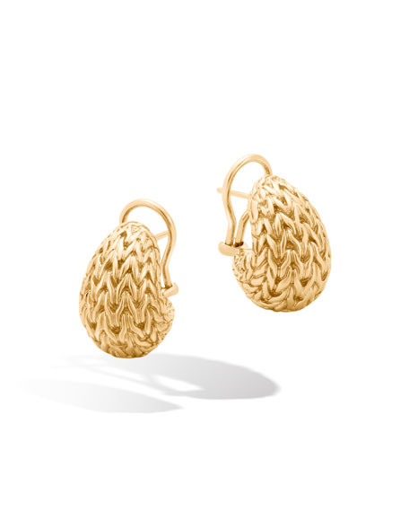 John Hardy Classic Chain 18K Buddha Belly Earrings