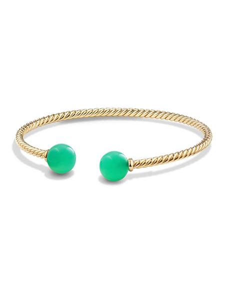 David Yurman Solari 18K Gold & Chrysoprase Cuff Bracelet