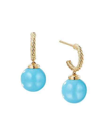 David Yurman Solari 18K Gold & Turquoise Earrings
