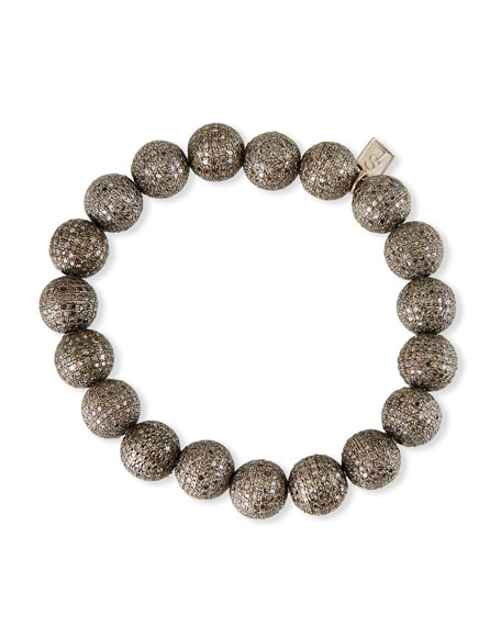 Sheryl Lowe Pave Diamond Beaded Bracelet