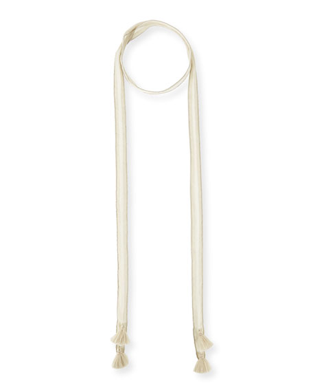 Eileen Fisher Delicate Chainnette Silk Necklace