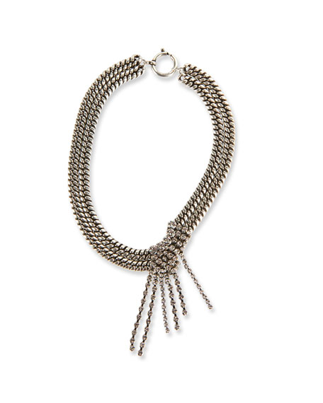 Etoile Isabel Marant Chain Choker Necklace with Glass Drop