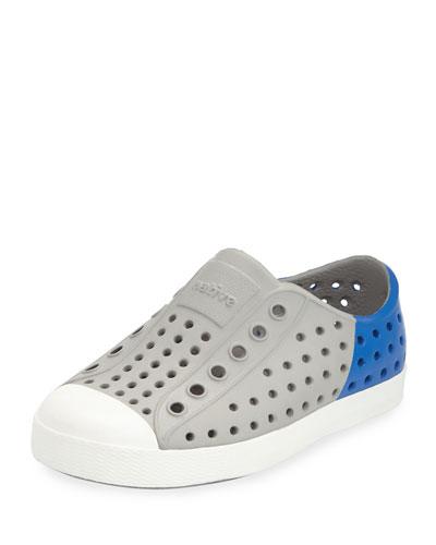 Jefferson Waterproof Colorblock Low-Top Shoe, Gray/Blue, Infant Sizes 0-9 Months