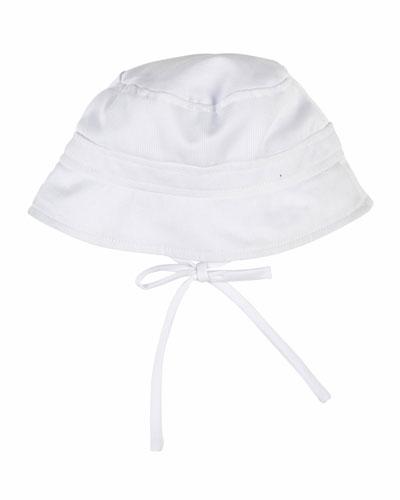 Finewale Pique Bucket Hat, White