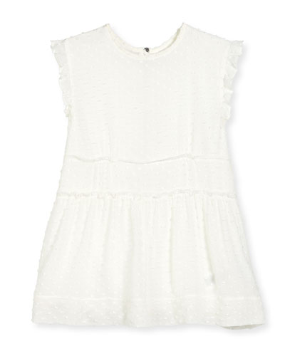 Janina Sleeveless Boucle Shift Dress, White, Size 4-14