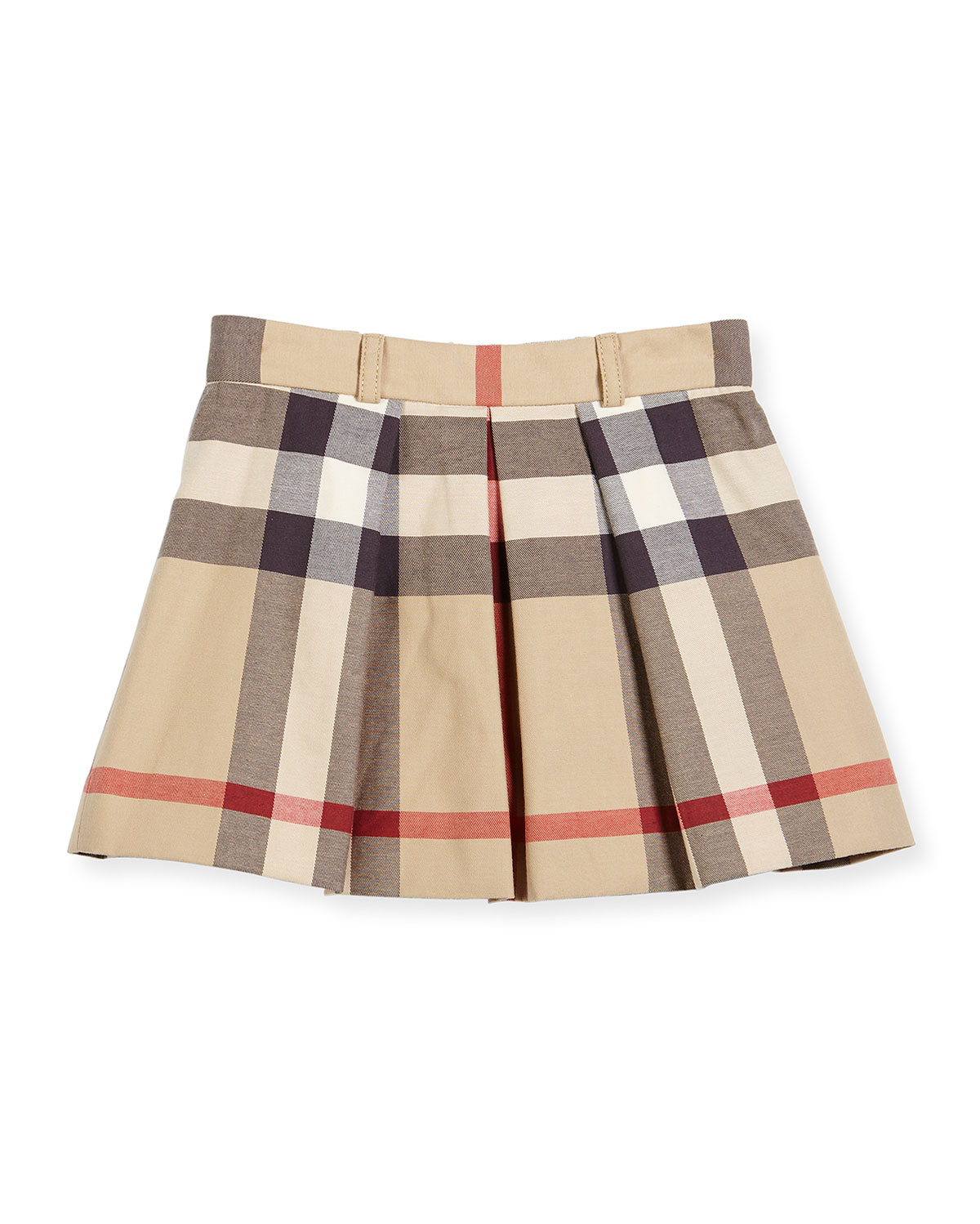 e8c1f9593cbd Burberry Kittie Classic Check Pleated Skirt