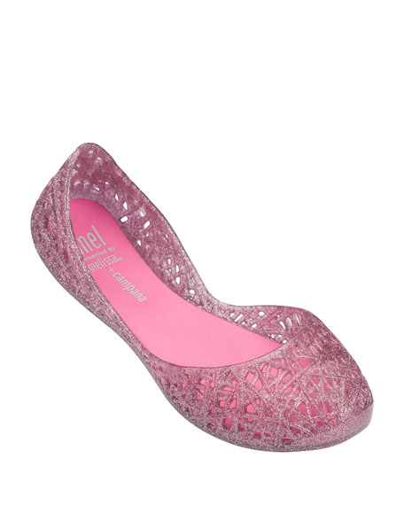 Mini Melissa Big Girl Zigzag Flat, Toddler/Youth
