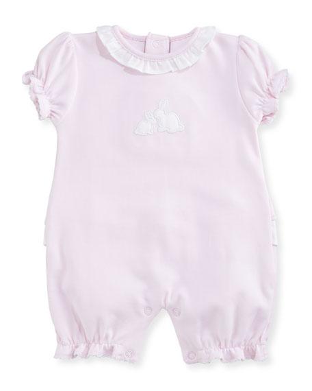 Kissy Kissy Pique Cottontails Pima Bubble Shortall, Pink,