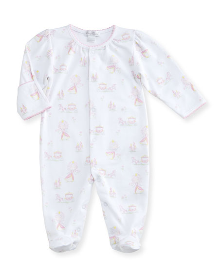 Kissy Kissy Fairy Tale Princess Printed Pima Footie