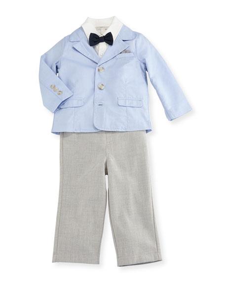 Miniclasix Oxford Blazer, Jersey Shirt & Straight-Leg Pants,