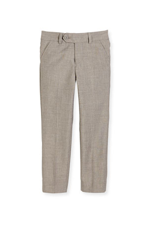 Appaman Slim Suit Pants, Light Gray, Size 2-14