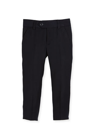 Appaman Straight-Leg Suit Pants, Navy, Size 2-14