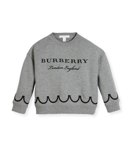 Burberry Emmie Logo Sweatshirt, Size 4-14