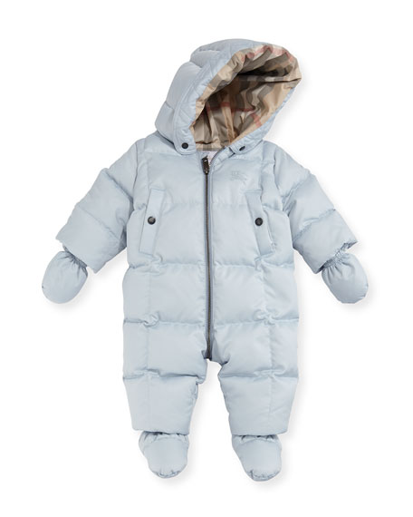 Skylar Quilted Down Snowsuit, Size 6-24 Months
