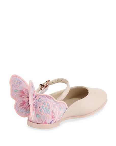 Chiara Butterfly Mini Ballet Flat, Sizes 5T-2Y