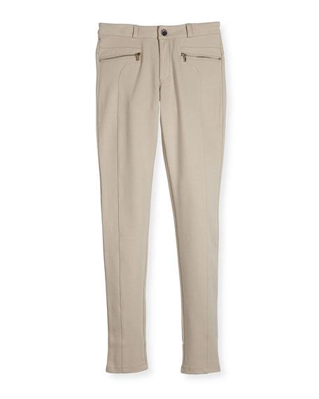 Mayoral Knit Zip-Pocket Leggings, Size 8-16