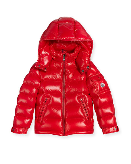moncler red puffer coat