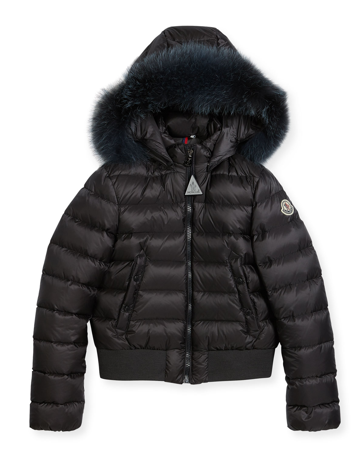 286d0bab4 Moncler New Alberta Quilted Coat w  Fur Trim
