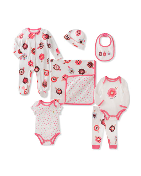 kate spade new york 7-piece starter layette set,
