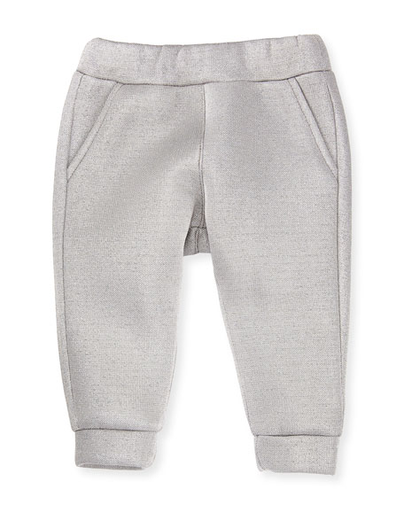 Infant Girls' Metallic Logo Pants, Size 12-24 Months