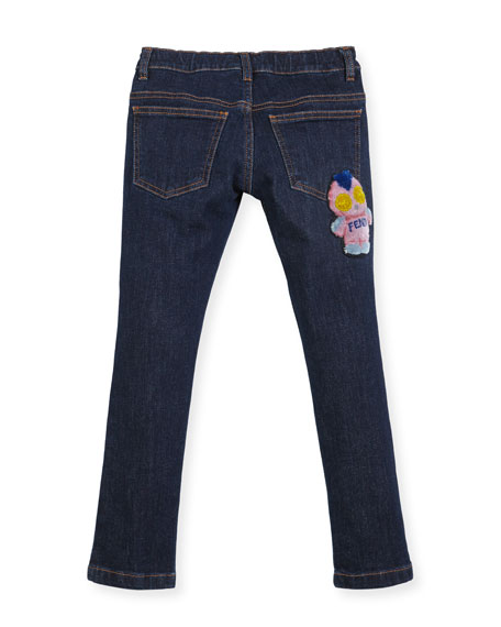 Girls' Denim Pants w/ Fendirumi Back Pocket, Size 3-5
