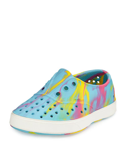 Miller Waterproof Marbled Rubber Skate Shoe, Yellow/Pink/Blue/White, Youth